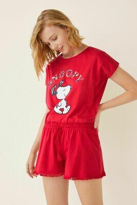 Pijama Snoopy Rojo