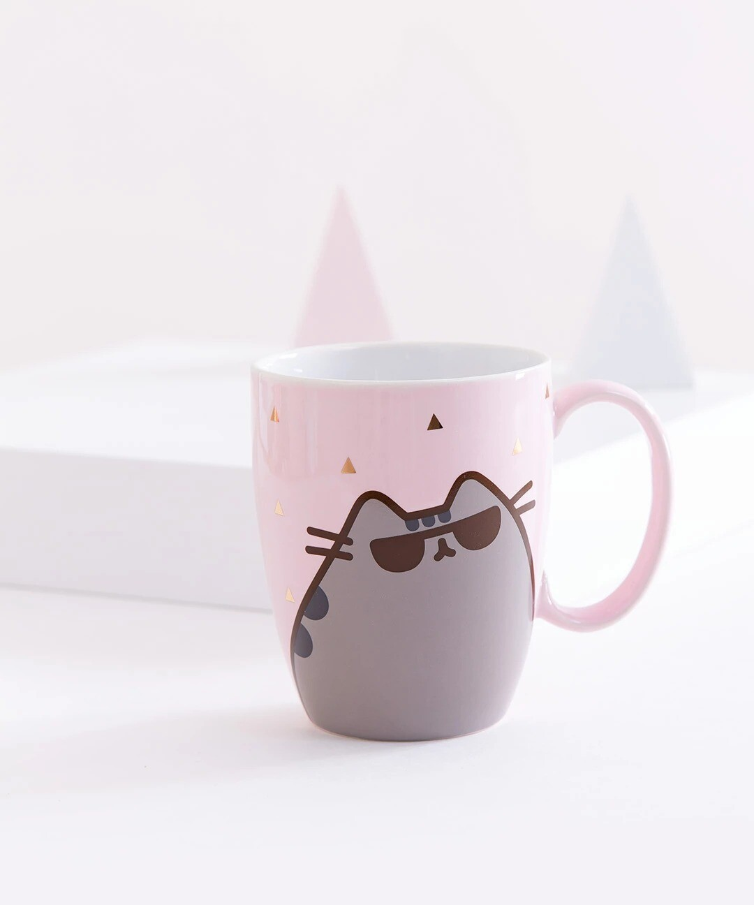 Taza Pusheen Lentes Kawaii