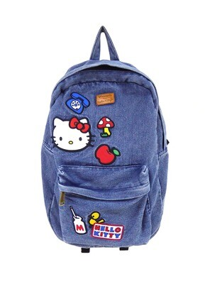 Mochila Mezclilla Hello Kitty Parches