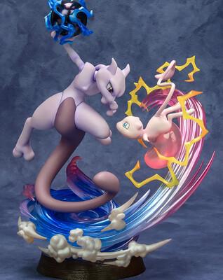 Pokemon - Mew & Mewtwo