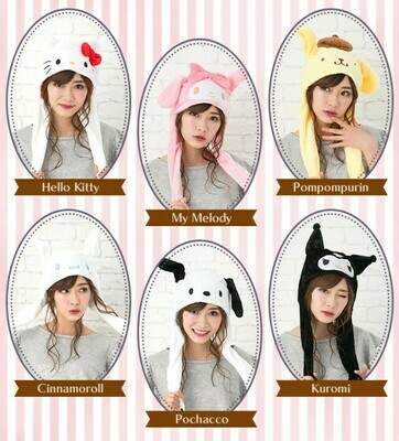 Gorros Kawaii Sanrio Hello Kitty