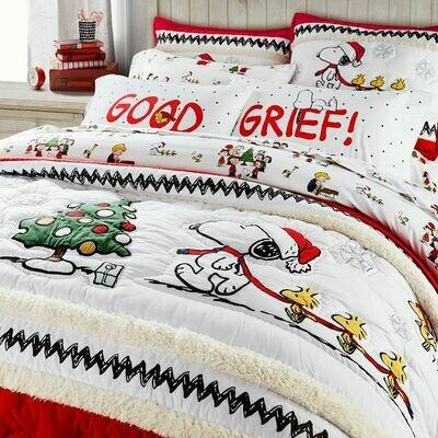 Set para Cama Snoopy Navidad