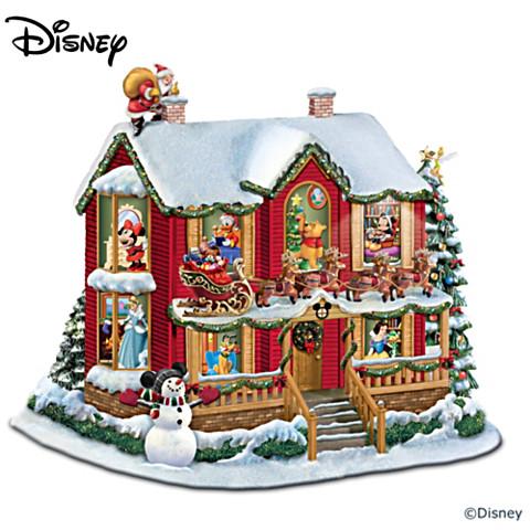 Casa Navideña Luz Sonido Disney