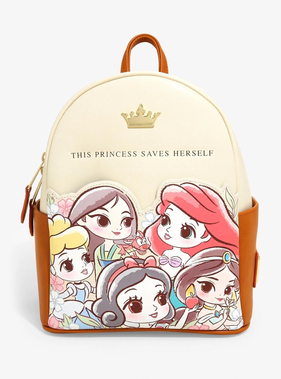 Bolsa Mochila Disney Princesas Chibi