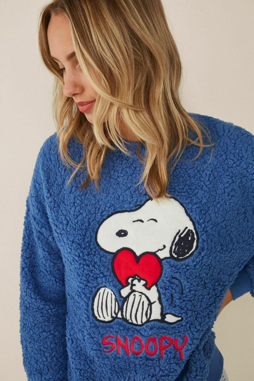 Sudadera Snoopy Azul