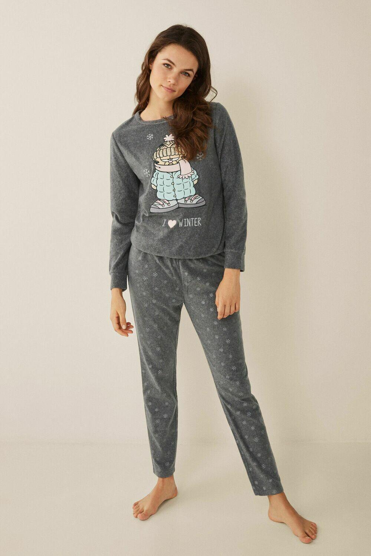Pants Pijama Garfield Largo Invierno