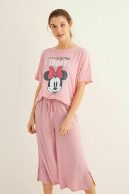 Pijama Minnie Mouse Rosa 20