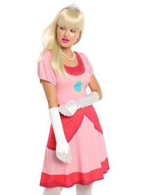 Vestido Cosplay Princesa Peach