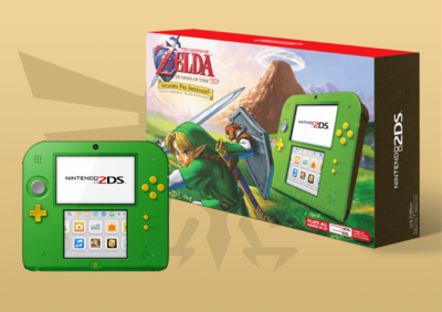 2DS Zelda Edicion Verde Limitada