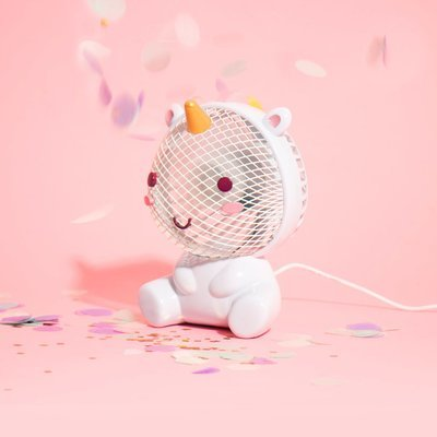 Mini Ventilador Unicornio Kawaii