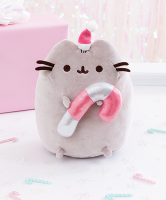 Peluche Pusheen Navideño Baston
