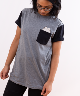 Playera Unisex Pusheen Gris