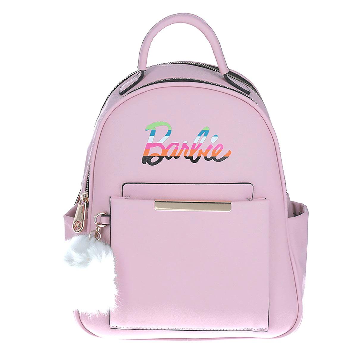 Bolsa Mochila Barbie Rosa