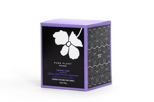 Side Wildcrafted French Lavender Coconut Wax