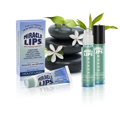 Miracle Lips Salve And Serum Combo Pack For Chapped Lips and Cold Sores