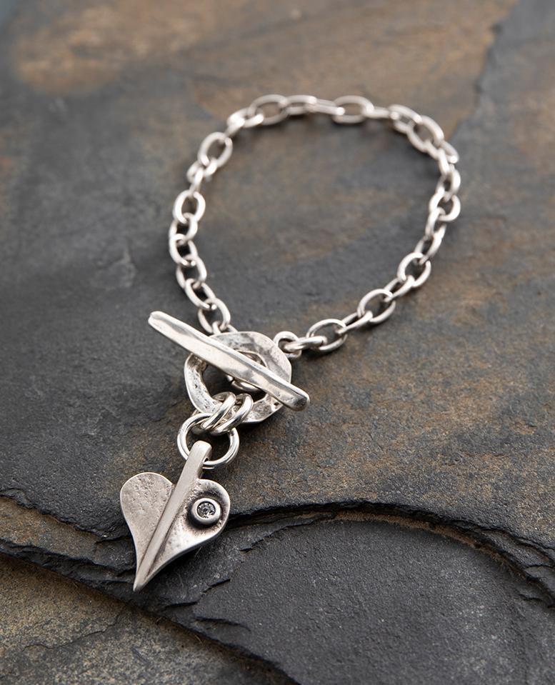 Danon Crystal Leaf of Love Delicate Bracelet