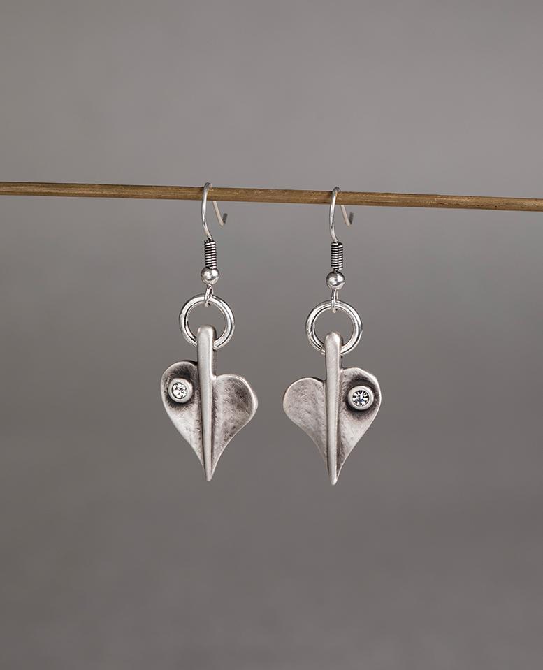 Danon Crystal Leaf Of Love Earrings E60088S1