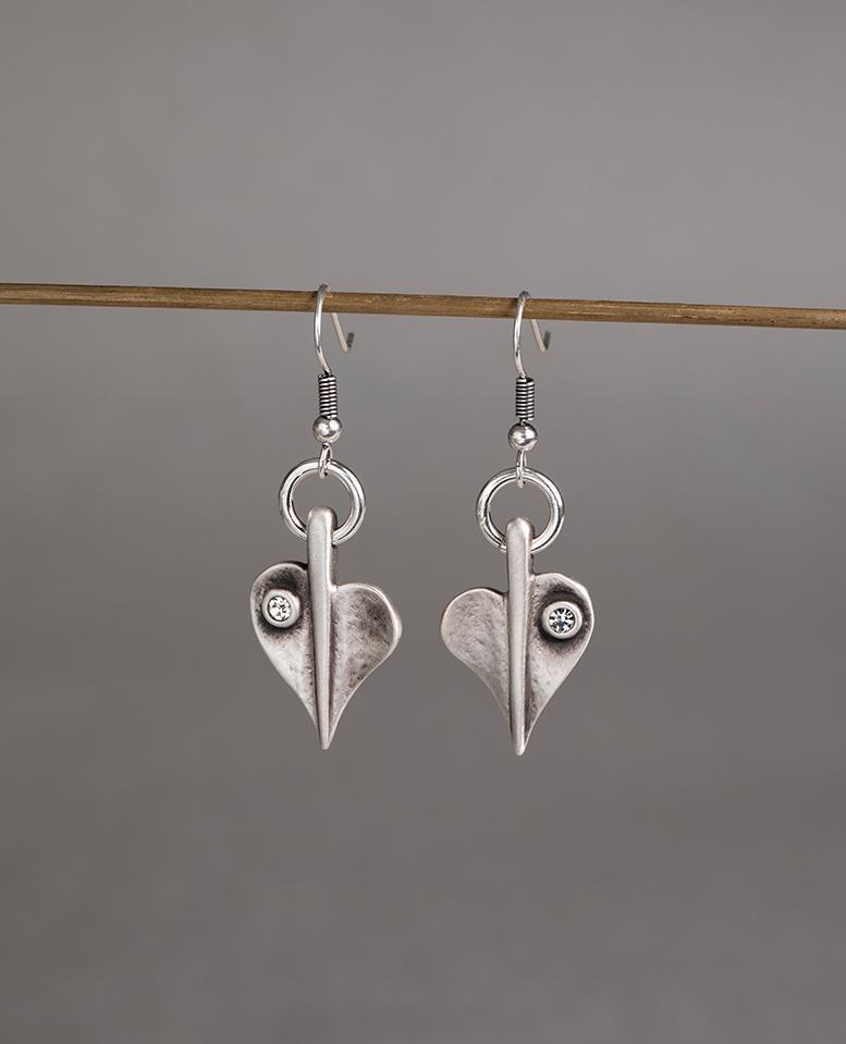 Danon Crystal Leaf Of Love Earrings