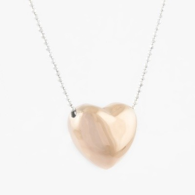 Virtue Exquisite Rose Gold Single Heart Necklace