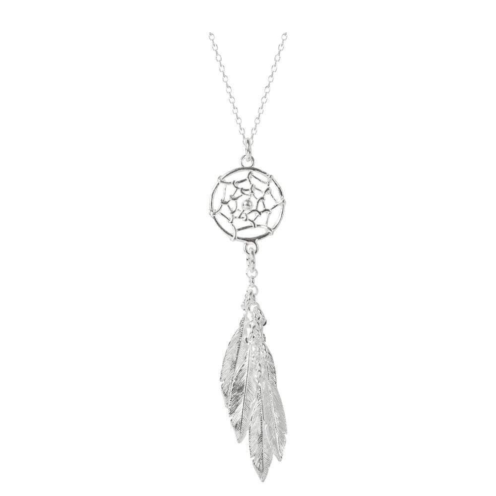 Virtue Exquisite Dream Catcher Feather Necklace