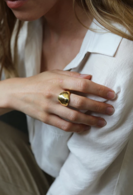 Tutti & Co Water Ring Gold