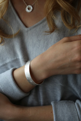 Tutti & Co Tide Bangle Silver