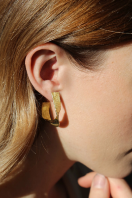 Tutti & Co Tide Earrings Gold