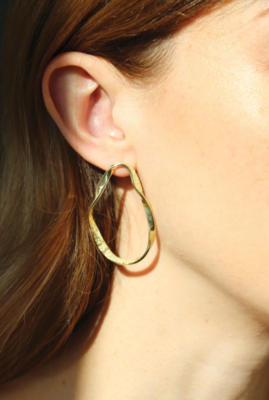 Tutti & Co Organic Earrings Gold
