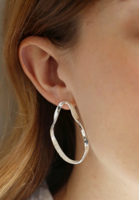 Tutti & Co Organic Earrings Silver
