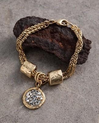 Danon Latis Crystal Rock Gold Bracelet Crystal