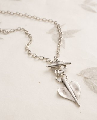 Danon Leaf of Love T-Bar Fine Necklace