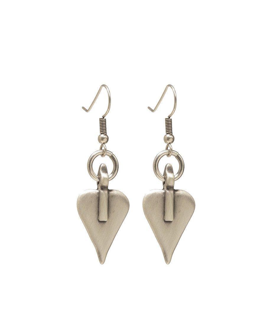 Danon Signature Heart & Hoop Drop Earrings