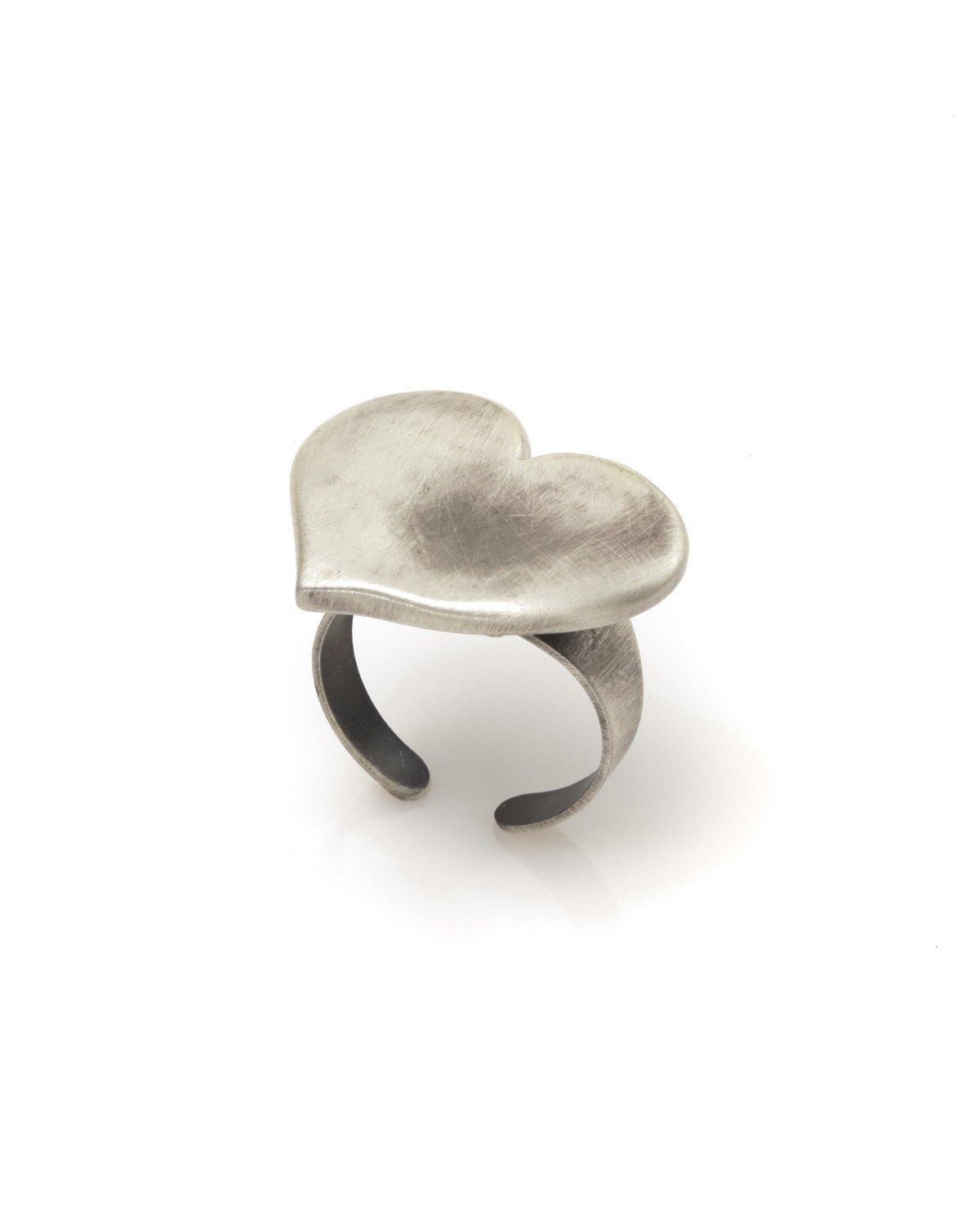 Danon Textured Heart Ring