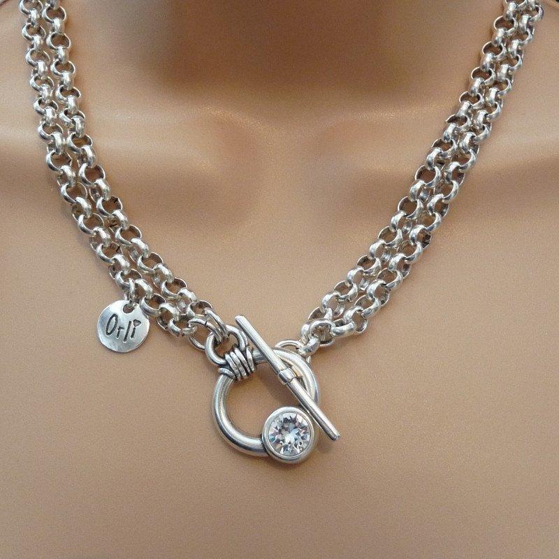 Orli Swarovski Crystal Chunky Double Necklace