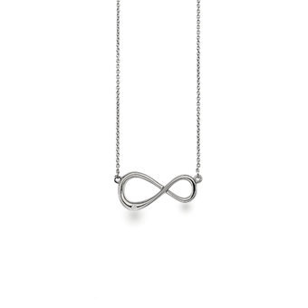 White Ice Sterling Silver Single Diamond Infinity Necklace
