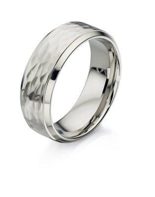Fred Bennett Stainless Steel Textured Ring