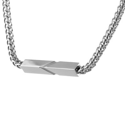 Fred Bennett Stainless Steel Bar Necklace