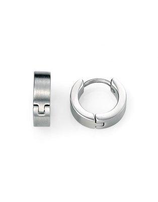 Fred Bennett Stainless Steel Brushed Sleeper Earrings