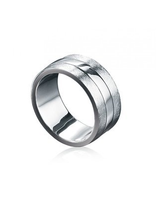 Fred Bennett Sterling Silver Scratch Finish Ring