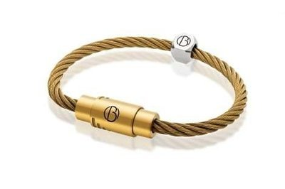 Bailey of Sheffield   CABLE™ Matte Gold Stainless Steel Bracelet