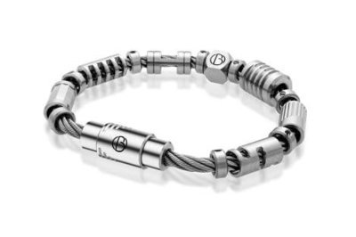 Bailey of Sheffield   CABLE™ Fully Loaded Stainless Steel Bracelet