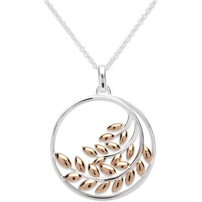Unique & Co Ladies Sterling Silver and Rose Gold Necklace