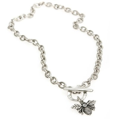 Danon Silver Plated Bumble Bee Chunky Necklace