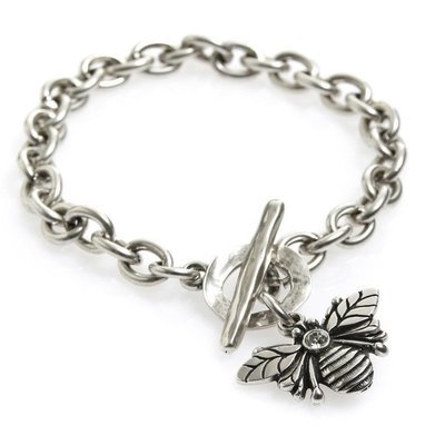 Danon Silver Bee Bracelet with Crystal