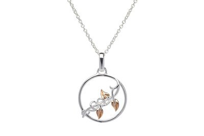 Unique & Co Silver and Rose Gold Necklace