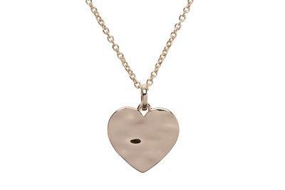 Unique & Co Rose Gold Heart Necklace