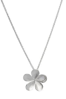 Unique & Co Silver Flower Necklace