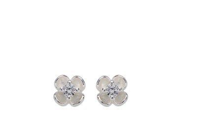 Unique & Co Silver Flower Stud Earrings