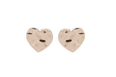 Unique & Co Rose Gold Heart Stud Earrings