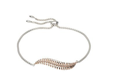 Unique & Co Silver and Rose Gold Bracelet